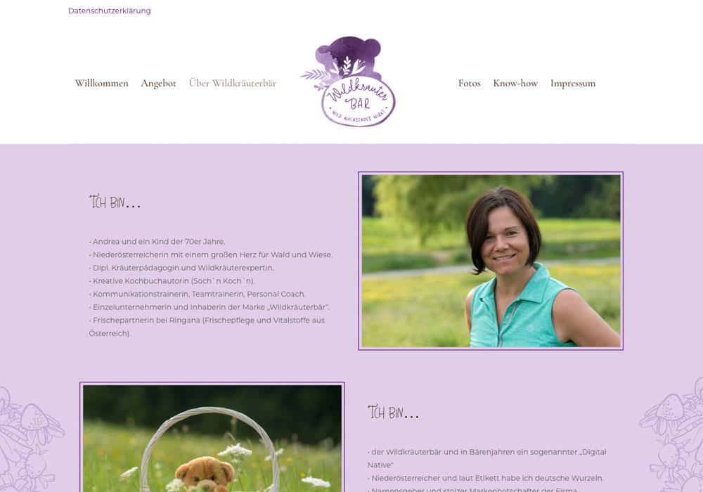 Wildkräuterbär Website